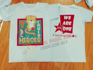Áo lớp we could be heroes